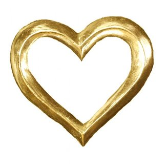 Graham and Green Gold Gilded Heart