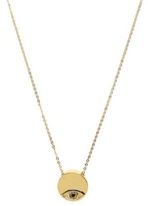 House Of Harlow Evil Eye Charm Disc Necklace