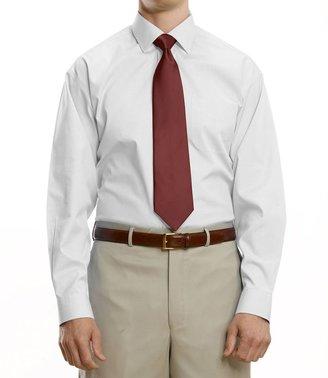 Jos. A. Bank Traveler Pinpoint Solid Spread Collar Dress Shirt