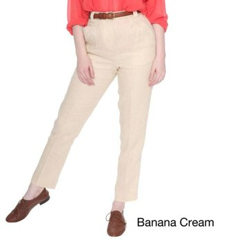 American Apparel Women's Chambray High-Waist Pleated Pants $69.99 thestylecure.com