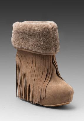 Koolaburra Nataleta Ankle Fringe and Shearling Boot