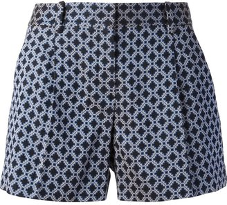Theory 'Clah' geometric shorts