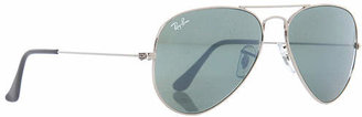 Ray-Ban RB3025 Aviator Silver Mirror Metal 55mm Sunglasses $175 thestylecure.com