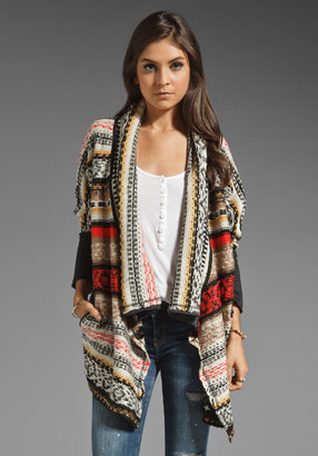 BB Dakota Kingsley Aztec Terry Sweater