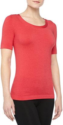 Wolford Lugano Seamless T-Shirt, Rose Red