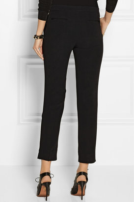 Etro Cropped stretch-crepe straight-leg pants