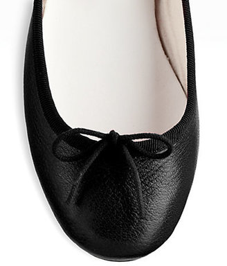 Repetto BB Distressed Leather Ballet Flats
