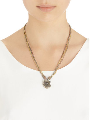 Sevan Biçakci Silver, Rose Gold & Yellow Gold Multi-Chain Necklace with Diamond Clasp