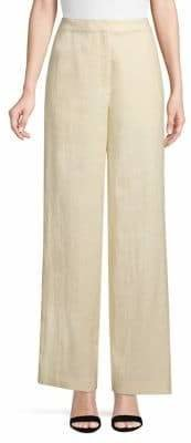 Theory High Rise Linen-Blend Trousers