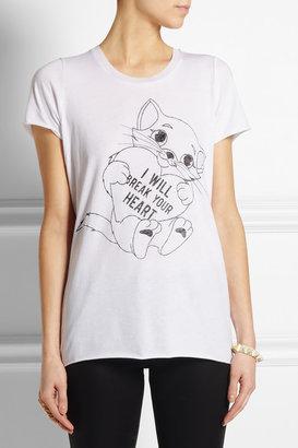 Zoe Karssen I Will Break Your Heart cotton and modal-blend T-shirt