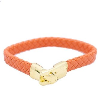 Tryst Style Woven Faux Leather Bracelet
