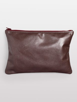 American Apparel Medium Metallic Leather Carry-All Pouch