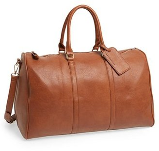Sole Society 'Lacie' Faux Leather Duffel Bag - Brown $84.95 thestylecure.com