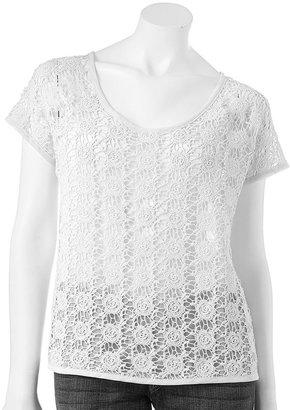 Lauren Conrad lace chiffon top