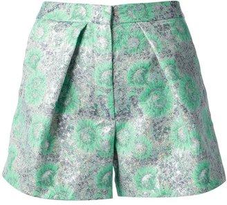 MSGM floral brocade shorts
