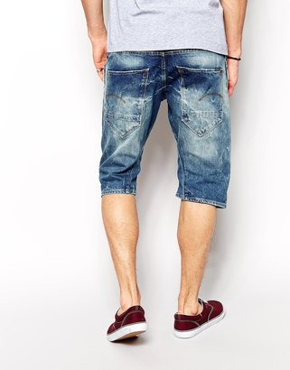 G Star G-Star Denim Shorts Arc 3d Loose Tapered Mid Aged Destroy