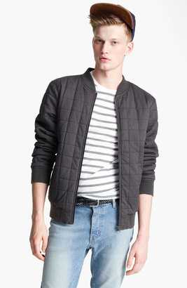Topman Quilted Bomber Jacket