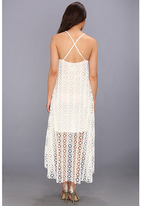T-Bags Tbags Los Angeles High-Low Crochet Cami Dress w/ Braided Strap