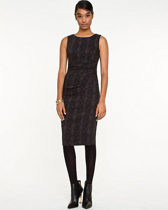 Le Château Jacquard Snake Print Sheath Dress