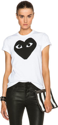 Comme des Garcons Cotton Black Heart Emblem Tee