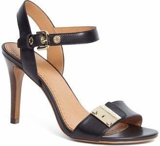 Brooks Brothers Calfskin High-Heeled Sandals