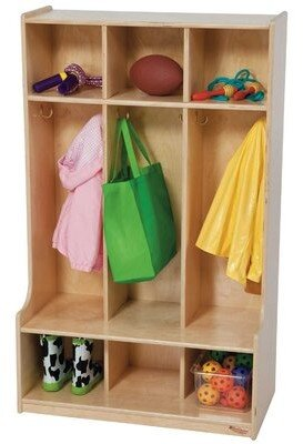 Wood Designs 5 Section Coat Locker Wood Designs Number of Sections: 3, Color: Natural