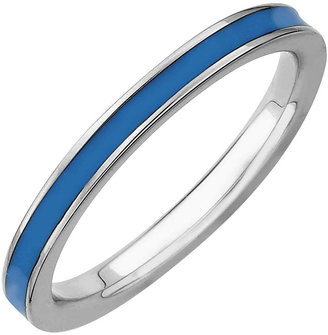 FINE JEWELRY Sterling Silver Enamel Stackable Ring $44.98 thestylecure.com