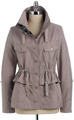 Betsey Johnson Peplum Anorak Jacket