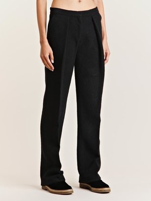 mento Women's Boucle Wool Tailored Pants