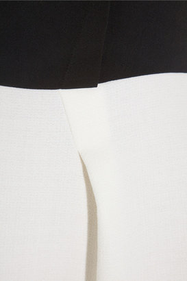 Roland Mouret Antila two-tone wool-crepe dress