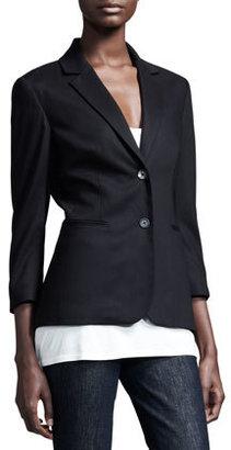 The Row Stretch-Wool Summer Blazer, Black
