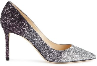 Jimmy Choo Romy 85 Degrade Glittered Leather Pumps