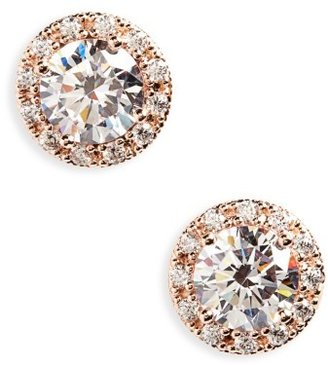 Women's Nordstrom Round 3.48Ct Tw Cubic Zirconia Stud Earrings $98 thestylecure.com