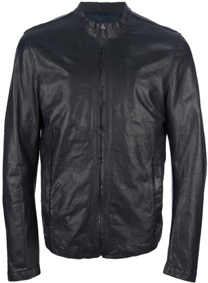 Trussardi panelled leather jacket