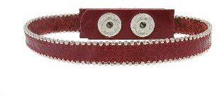 Other Designers Cherry Leather Bracelet - Silver Beading