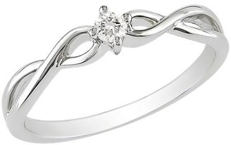 Diamond 1/10 CT.T.W. Ring in 10K White Gold (GHI I2;I3)