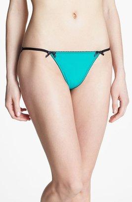 Betsey Johnson Stretch Knit String Bikini