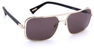 Lanvin SLN019 Aviator Sunglasses with Leather