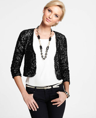 Ann Taylor Sequin Jacket