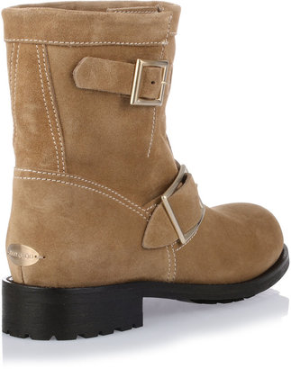 Jimmy Choo Youth camel suede ankle boot