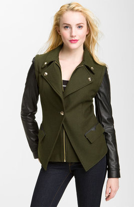 Sam Edelman Blazer with Detachable Leather Sleeves