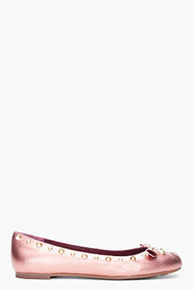 Marc by Marc Jacobs Metallic Pink Mouse Ballerina Flats