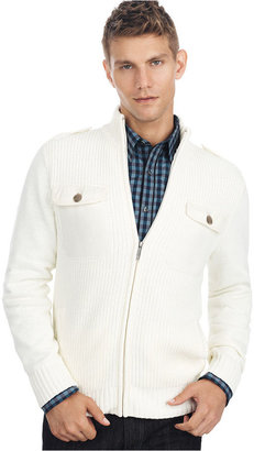Kenneth Cole Reaction Sweater, Full Zip Military Sweater