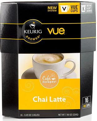 Keurig 9322-016 VueCup Portion Packs, 16 Count Cafe Escapes Chai Latte
