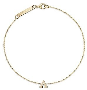 Zoë Chicco 14K Yellow Gold Initial Bracelet