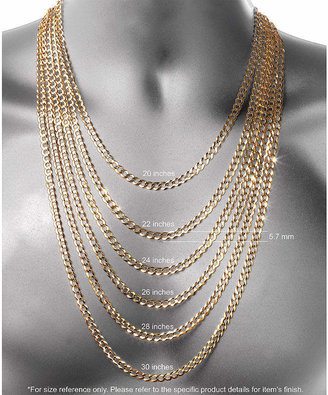 PRIVATE BRAND FINE JEWELRY Made in Italy Sterling Silver Solid Box Chain Necklace
