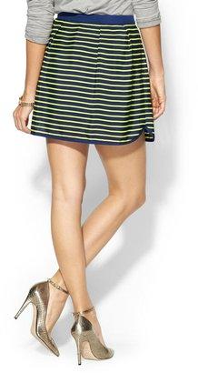 Pim + Larkin Striped Petal Hem Mini Skirt