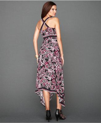 INC International Concepts Dress, Sleeveless Handkerchief-Hem Maxi