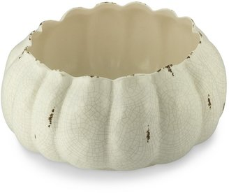 Williams-Sonoma White Crackle Pumpkin Serving Bowl