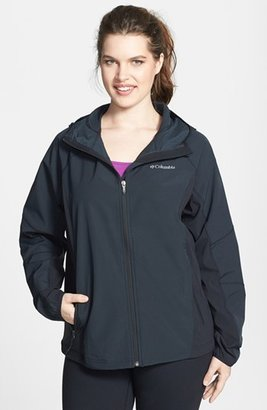 Columbia 'Sweet as Softshell' Hooded Jacket (Plus Size)